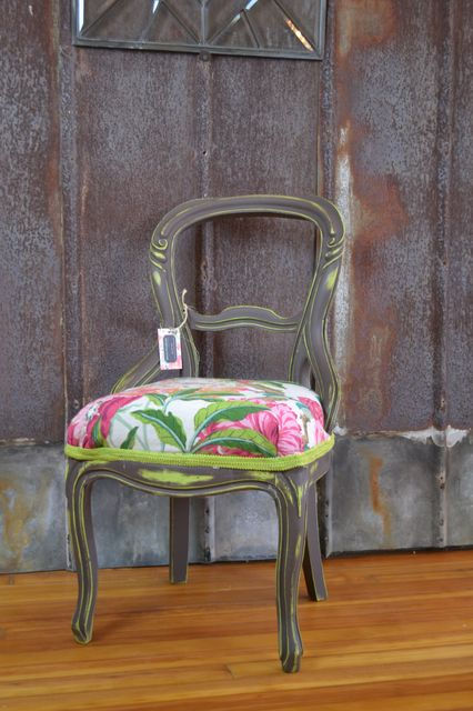 Victorian Balloon Back Chair - Vintage Furniture, Retro Home Decor, Pittsburgh Antiques Savvy
